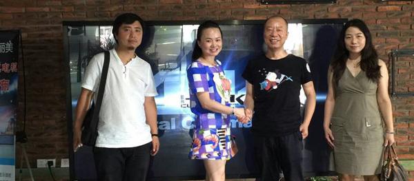 """迈上高层到访""""中国智能电视十大品牌""""-DQ瀚丽美"""