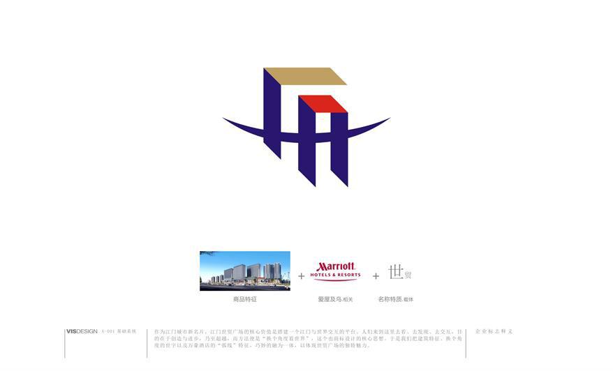 新英世贸广场标志设计